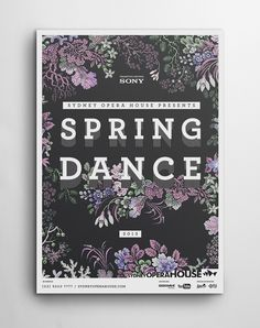 Marketing design for the Sydney Spring Dance Festival by Joao Peres / #poster