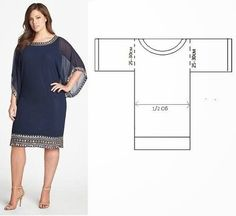 Patrón gratis: vestido fácil y elegante (todas las tallas)