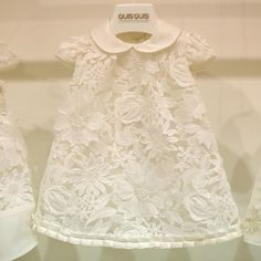 Vestido Branco Infantil de Renda QuisQuis