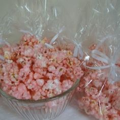 @ Mom-- best of both worlds :) haha!  Cotton Candy Popcorn - Tastes just like cotton Candy from the fair and so fast and easy to make  10-12 cups popped popcorn  2 cups sugar  2/3 cups whole milk  2 tablespoons light corn syrup  1/4 teaspoon salt  1 teaspoon cherry flavoring  red or pink food colouring