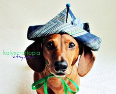 Blue Green Retro Wiener Dog Birthday Party by kalyxcraftopia
