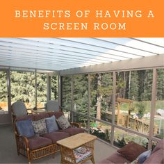 There's nothing quite like spending time on your porch with family and friends. Here are a number of benefits of having a screen room. Desert Sun, Own Home, Calgary, Home Values, Beats, Benefit, Pergola, Porch, Relax