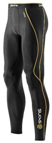 Skins A200 B60052001L Caleçon de compression Homme Long Noir/Jaune M Skins, http://www.amazon.fr/dp/B0054PCZMM/ref=cm_sw_r_pi_dp_l1sTqb117WJ4H