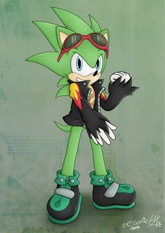 Scourge the Hedgehog - Redone by esonic64.deviantart.com on @deviantART
