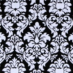 Michael Miller fabric Dandy Damask black-white  beautiful black-white fabric with ornaments from the USA