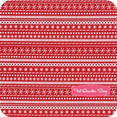 Santa's Workshop  Red Candy Stripe  By Doodlebug Designs for Riley Blake