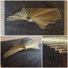 I'm going to make this nail and string art Needs to be Asheboro Wood Crafts, Diy Crafts, Magnolia Design, Craft Projects, Craft Ideas, Charlotte Nc, Durham, String Art, Mountain