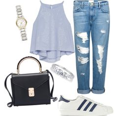 Untitled #113 by mazzo-sofia on Polyvore featuring polyvore fashion style Zara Frame Denim adidas Originals Burberry
