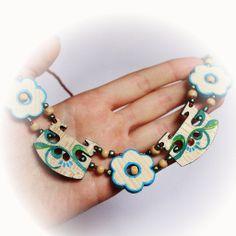 Flower Bridge Necklace (Blue) Necklaces, Bracelets, Bridge, Drop Earrings, Flowers, Blue, Jewelry, Bangles, Jewellery Making