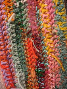 Scarf 3-Crocheted Scrap Yarn Scarf