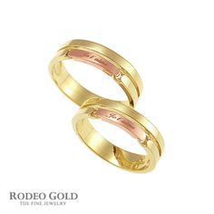 Gold initial rings TCR59204