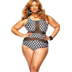 black white print swimwear women mesh one piece swimsuit plus size sexy bodysuit bathing suit XL XXL XXXL