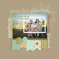 Love this scrapbook layout!!  Great idea!
