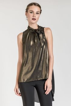 This high low metallic top is the absolute must-have for a glam style. Discover more metallic clothes at be you. Fashion Moda, High Low, Glam Style, Clothes, Tops, Women, Outfits, Clothing, Kleding