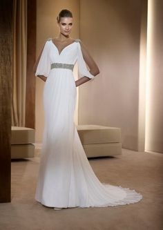 This Is The Perfect Gown For A Star Wars Themed Wedding By Pronovias In Sheath With Jeweled Detailing
