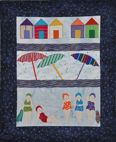 Pattern Store on Craftsy Pdf Patterns, Cool Patterns, Quilt Patterns, Patchwork Patterns, Beach Themed Quilts, Beach Quilt, Hanging Quilts, Scrap Busters, House Quilts