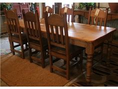 8ft Dining Table and 6 Chairs