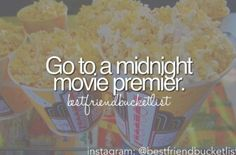 Going to the movies is an awesome tradition, and a midnight premier is something I've never done...