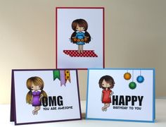 Love these Rag-doll cards by Laura Bassen