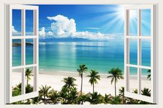 Small Tropical Wall Murals