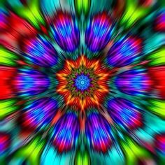 Reminds me of a modern stain glass window. Psychedelic- Experience ૐ