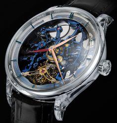 H. Moser & Cie. Venturer Tourbillon Dual Time Sapphire Blue Skeleton Watch Watch Releases