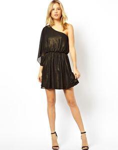 Image 4 of ASOS One Shoulder Drape Dress