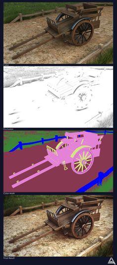Wooden Cart Render Pass's by AhmadTurk.deviantart.com on @deviantART
