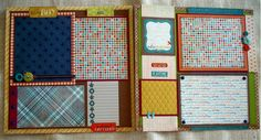 boy scrapbook layouts | Scrapbooking by Phyllis: Premade 12x12 Scrapbook Pages for Boy