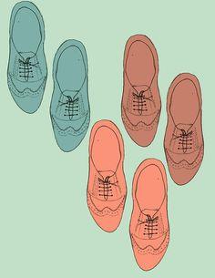 Oxfords fashion illustration