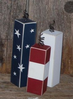 Fireworks freedom  4th of july school sign home decor military patriotic wood blocks summer. $12.00, via Etsy.