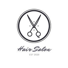 A creative template for a hair salon logo. This can be