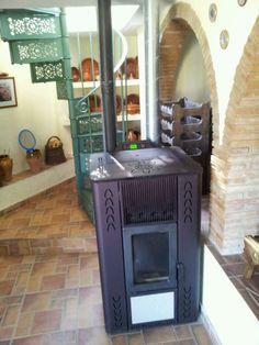 Estufa pellet 7kw metmann pellet aire 6 estufas de for Estufa de pellets en un piso