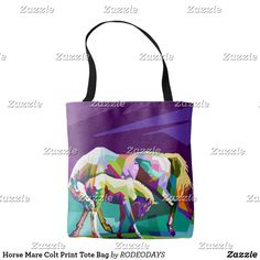 Shop Horse Mare Colt Print Tote Bag created by RODEODAYS. Horse Gifts, Gifts For Horse Lovers, Printed Tote Bags, Edge Design, Reusable Tote Bags, Paintings, Horses, Prints, Paint