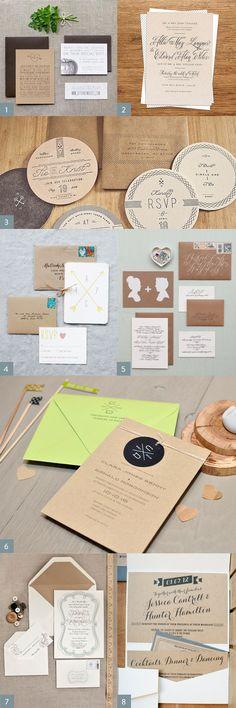 Wedding Invitation Design using Kraft Paper, hifrienddesign.com Gala Invitation, Holiday Invitations, Wedding Invitation Design, Wedding Stationary, Invites, Scrapbooking, Wedding Inspiration, Wedding Ideas, Sister Wedding