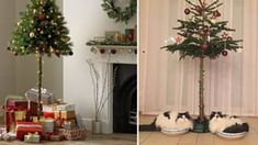 This Half Christmas Tree Is For People With Naughty Cats Half Christmas Tree, Best Funny Pictures, Fun Stuff, Holiday Decor, Cats, People, Anime, Home Decor, Fun Things