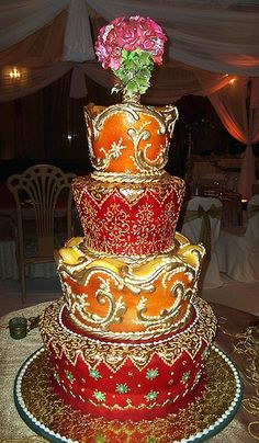 Arabic Wedding cake. I have to have this at my wedding! (:
