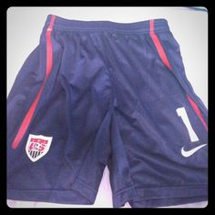 Navy Nike us soccer shorts Like new only worn once. Nike Shorts