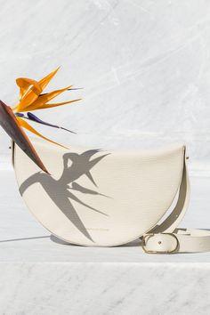 white half moon bag  Benedetta Bruzziches