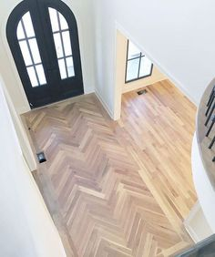 Herringbone Wooden Floor In A Hallway For The Home