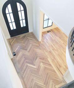 herringbone floor entry way