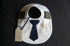 airline pilot bib. cute! Wish I had seen this sooner but still hopefully can make it!