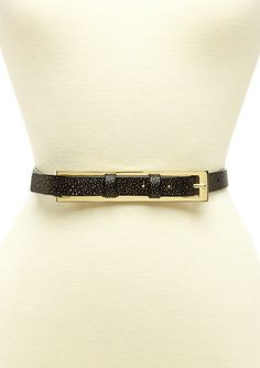 WCM  Italian Antigua Stingray Skinny Belt