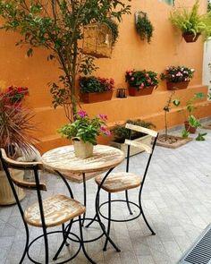 ideas apartment balcony garden diy home decor for 2019 Patio Pergola, Diy Patio, Narrow Patio Ideas, Apartment Balcony Garden, Patio Interior, Garden Signs, Garden Trellis, Backyard Projects, Decoration
