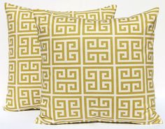 Decorative Throw Pillow Covers Village Green by FestiveHomeDecor, $36.00