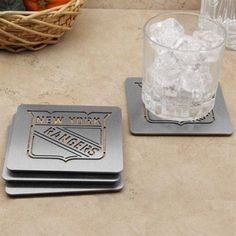New York Rangers 4-Pack Boasters Stainless Steel Coasters
