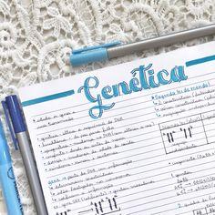Resumo de Genética feito por @tekastudies Studyblr, Genetics, Medicine, Doodles, Notebook, Bullet Journal, Ads, Teaching, Lettering