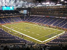 Ford Field: Detroit, Michigan and home of the Lions. I have been to several NFL games here, and high school games as well and was fortunate enough to work the MHSAA high school football finals on this field in November of 2009.