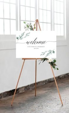 Welcome to Our Wedding Sign Eucalyptus Wedding Welcome Sign Printable Eucalyptus Greenery Leaf Watercolor Wedding DIY PDF SALE! - Welcome to Our Wedding Sign Eucalyptus Wedding Welcome Sign Printable Eucalyptus Greenery Leaf Watercolor Wedding DIY PDF Sign Templates, Wedding Templates, Wedding Tips, Wedding Planning, Wedding Day, Diy Wedding Signs, Wedding Anniversary, Wedding Table, Wedding Reception Entrance