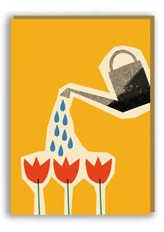 Anna Kövecses Tulips Greetings Card
